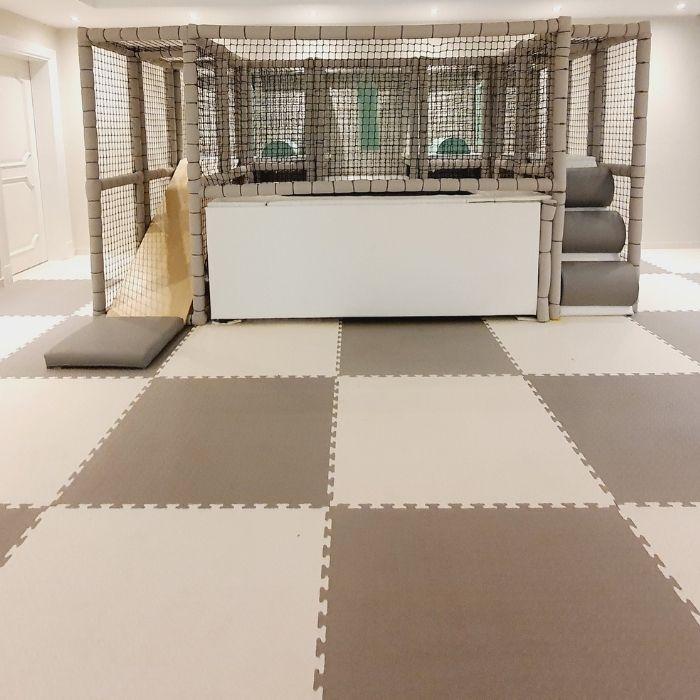 Jigsaw Floor Mats - Grey & White