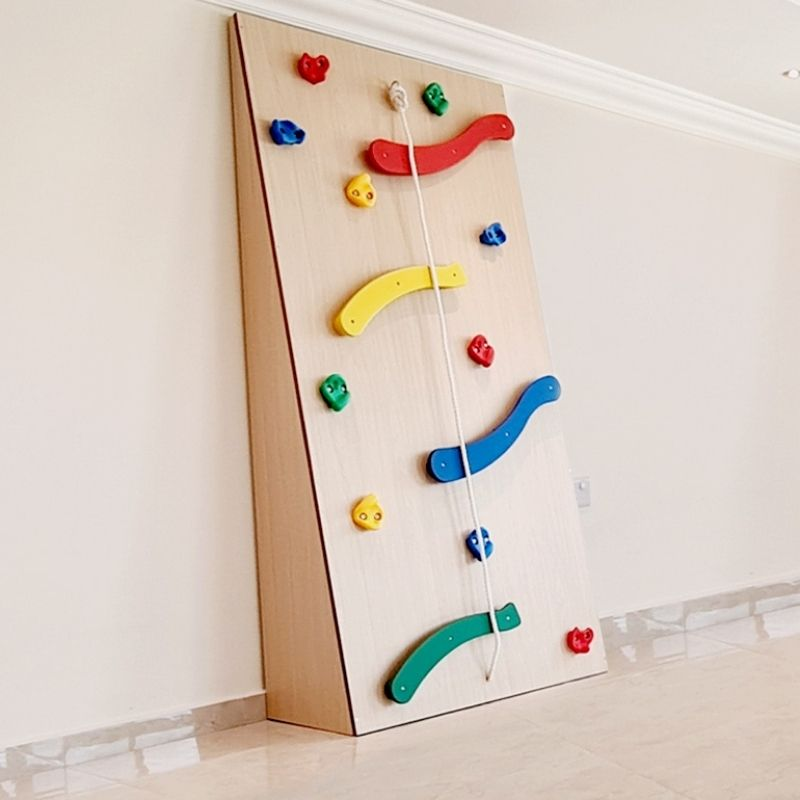 Moon Kids Climbing Wall with Shaped Grips