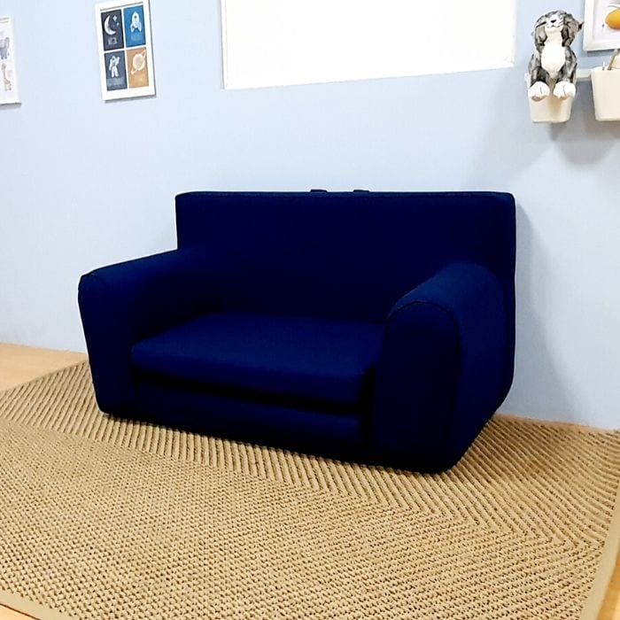 Childrens Sofabed in Ink Blue