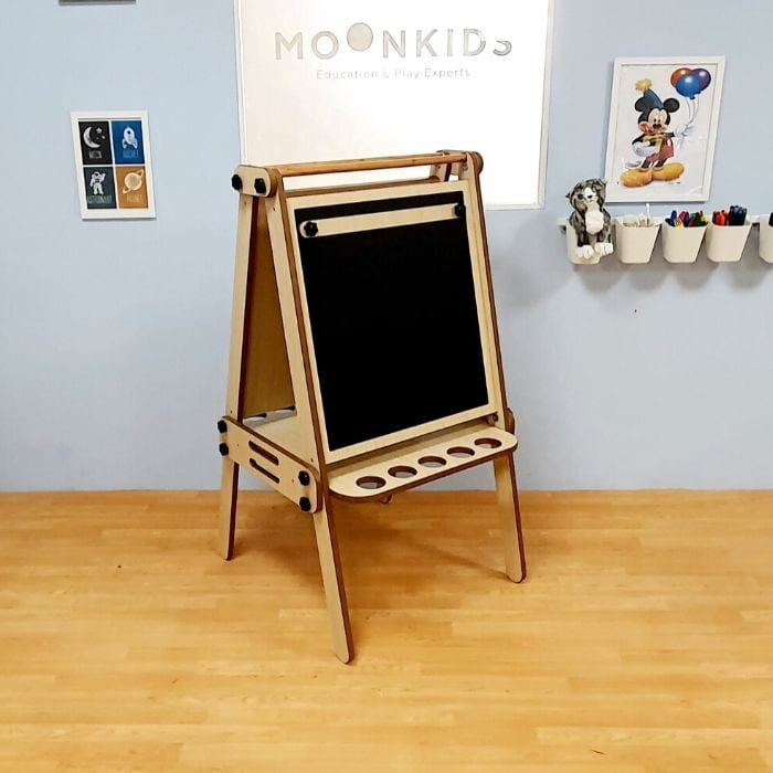 3in1 Foldable Art Easel Blackboard Chalk Board