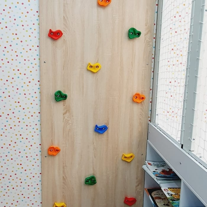 Climbing Wall with Safety Mat - 1 Panel