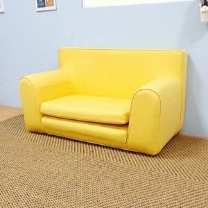 Childrens Sofabed in Yellow