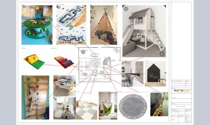 Mood board interior design at with Moon Kids Home