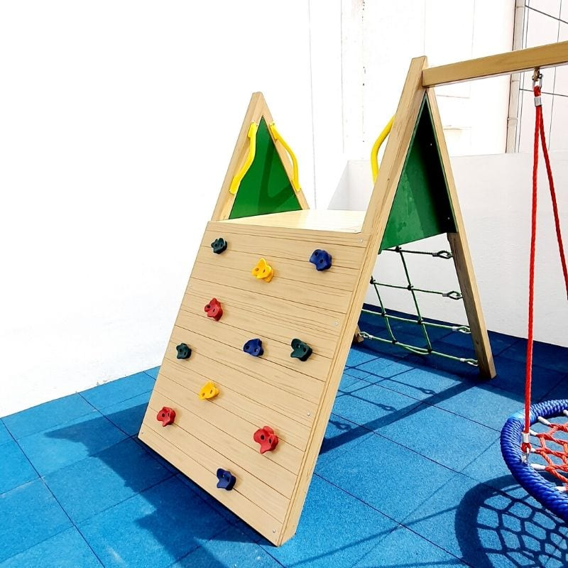 Adventure Climbing Frame with Birds Nest Swing