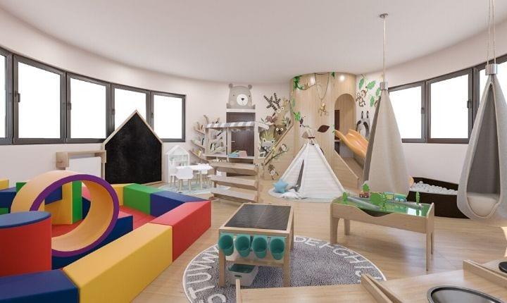 Play Room Interior Design at Moon Kids Home