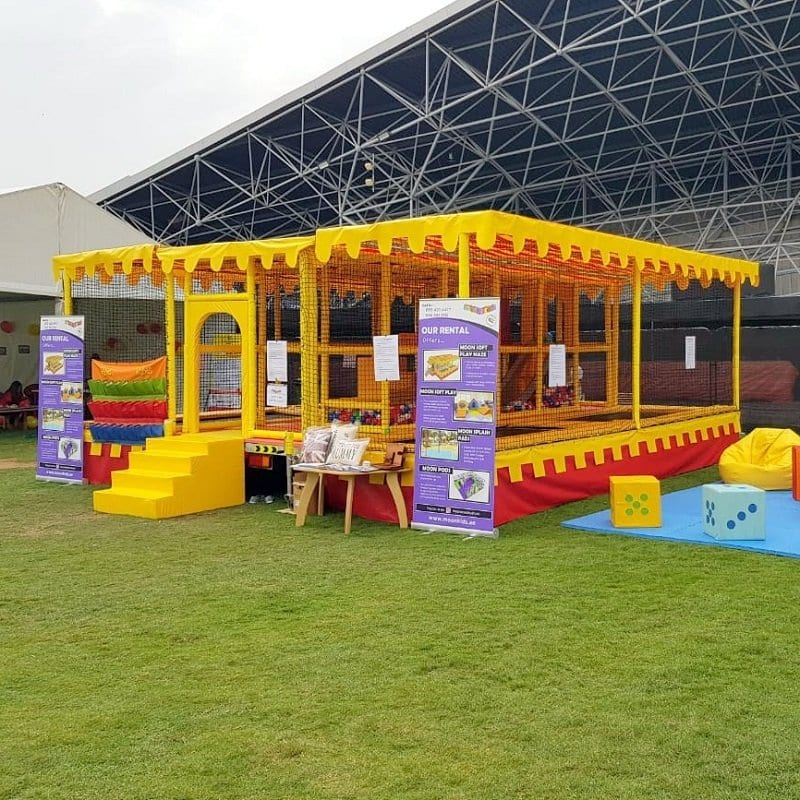 Mobile Maze Fun Factory with Soft Play and Trampolines