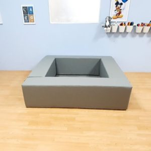Square Ball Pit in Grey