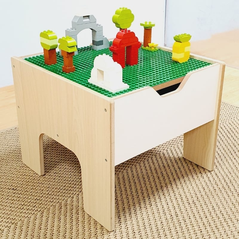 Small Building Blocks Table and Storage