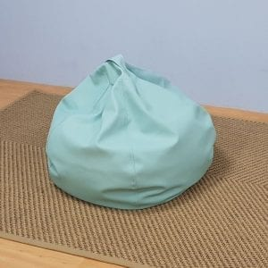 Faux Leather Turquoise Beanbag