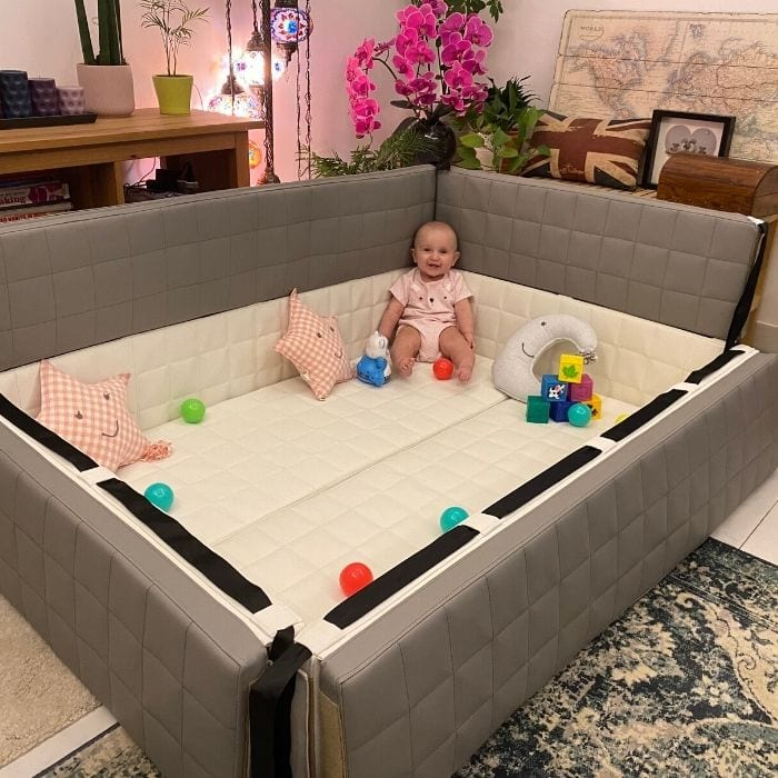 Multi Purpose Soft Play Mat with Adjustable Sides in Action!