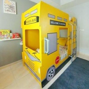 Double Decker Yellow School Bus Bunk Bed
