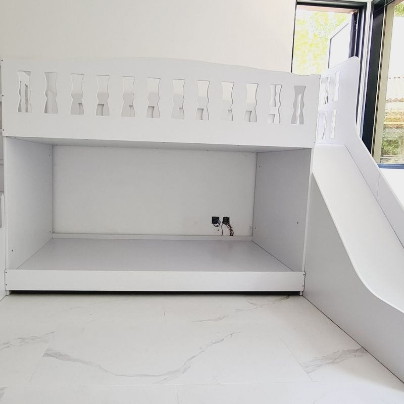 Bunk Bed with Storage Steps and Slide