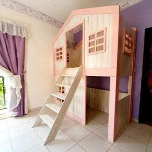 Treehouse Bunk Bed with Ladder