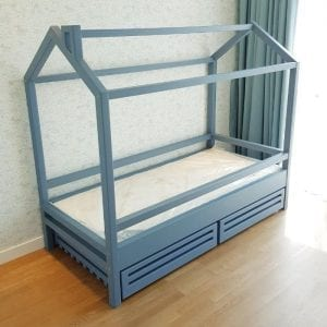 House Frame with Storage Drawers