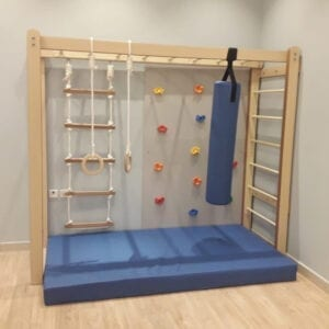 Monkey Bars with Accessories Set in Blue