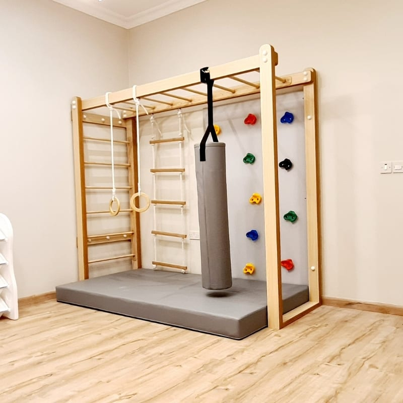 Monkey Bars with Accessories Set in Grey