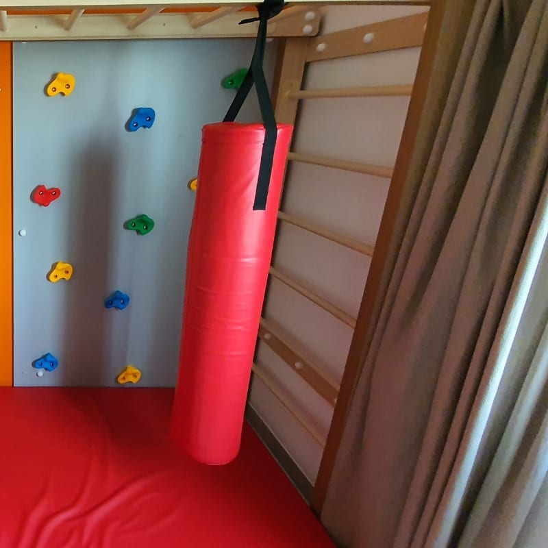 Monkey Bars with Accessories Set in Red