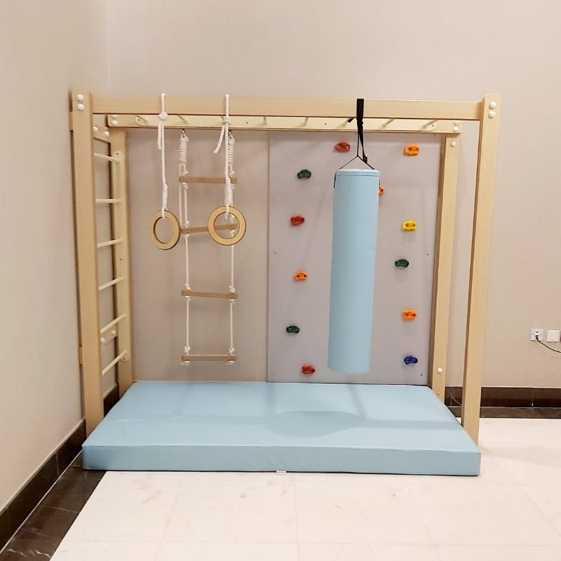 Monkey Bars with Accessories Set in Turquoise