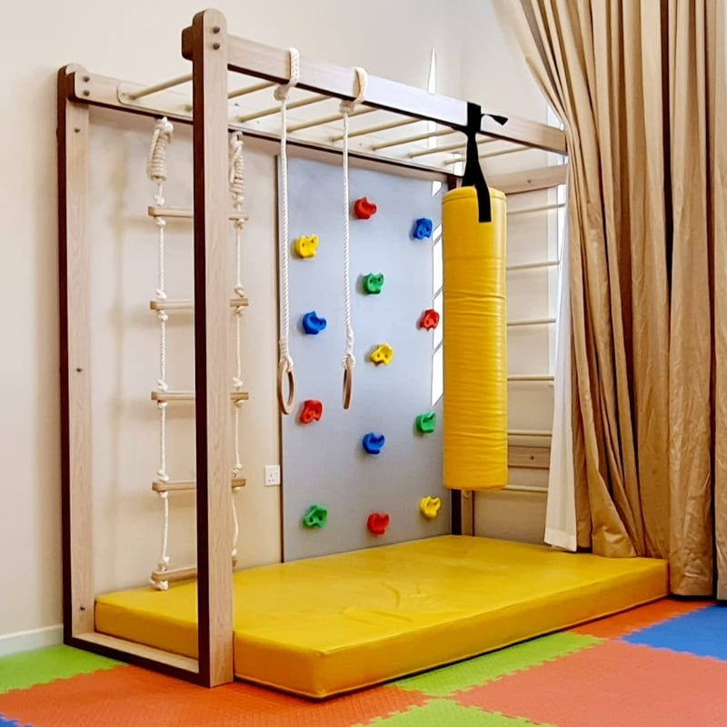 Monkey Bars with Accessories Set in Yellow