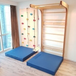 Swedish Wall and 1 Panel Climbing Wall Set