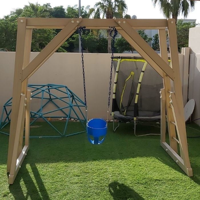 Freestanding Monkey Bars and Swing