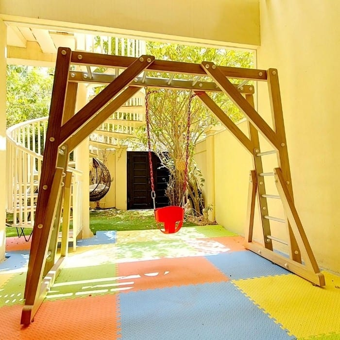 Freestanding Monkey Bars with Swing