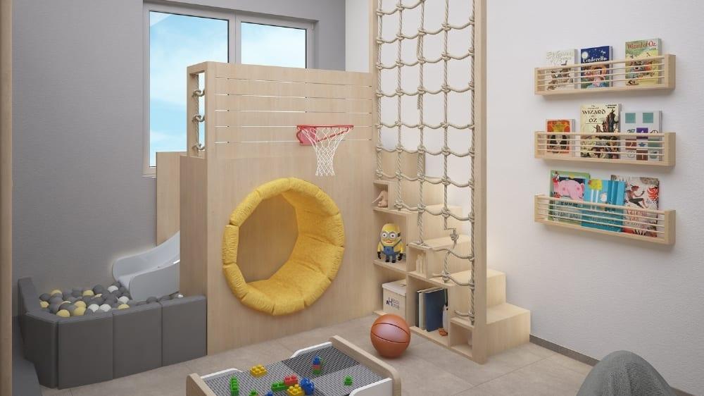 Activity Playroom Design at Moon Kids Home