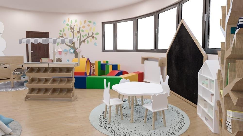 Animal Playroom Design at Moon Kids Home