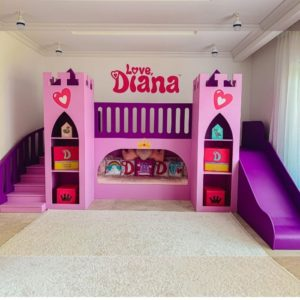 Princess Castle Bed in Purple and Pink