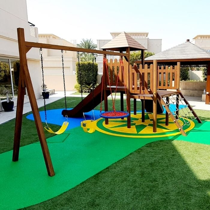 Climbing Frame with Triple Swing Set
