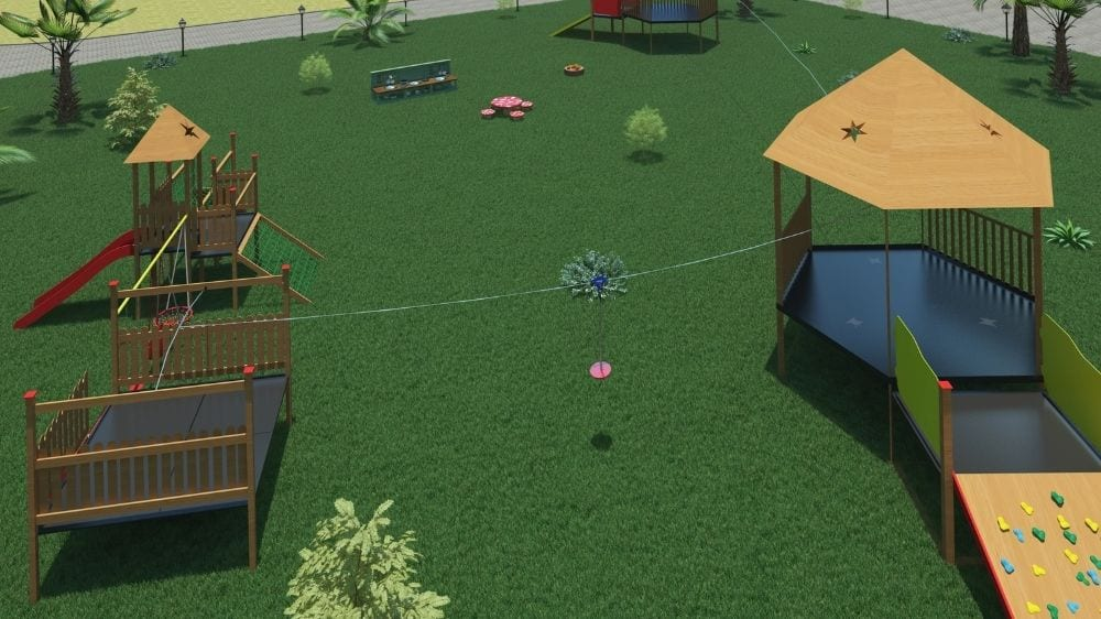 Zipline Design for the Garden at Moon Kids Home