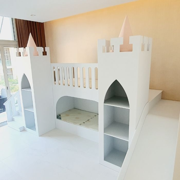 Princess Castle Bed in White