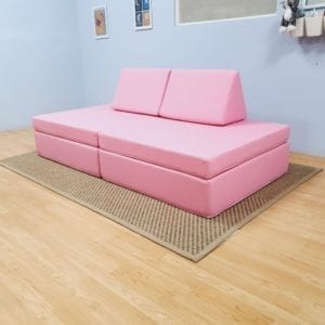 Play Sofa in Light Pink Cotton