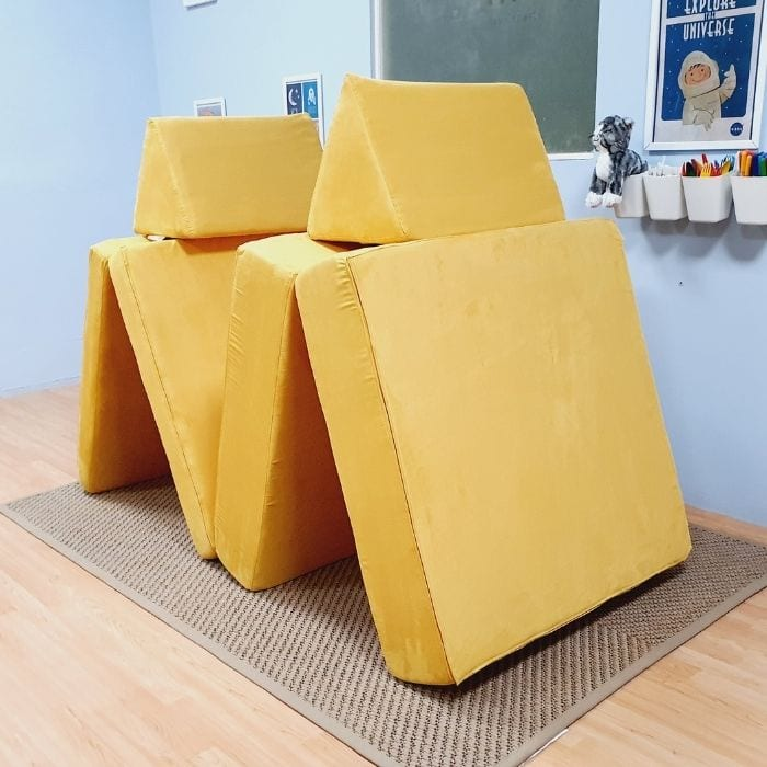 Play Sofa in Yellow Suede