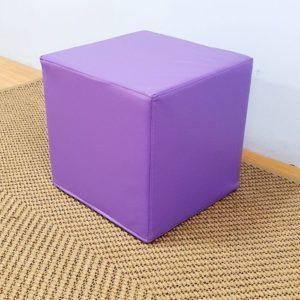 Square Ottoman Purple