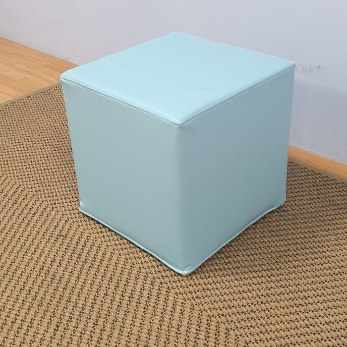 Square Ottoman Turquoise