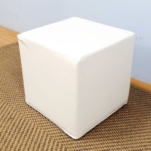 Square Ottoman White