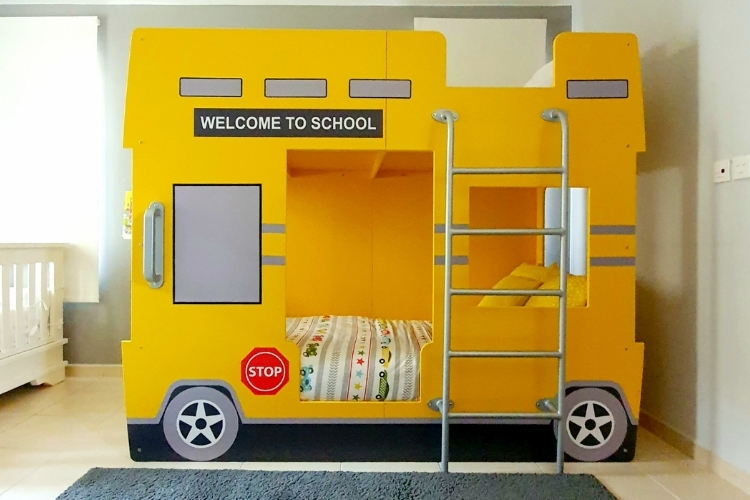 Double Decker School Bus Bunk Bed
