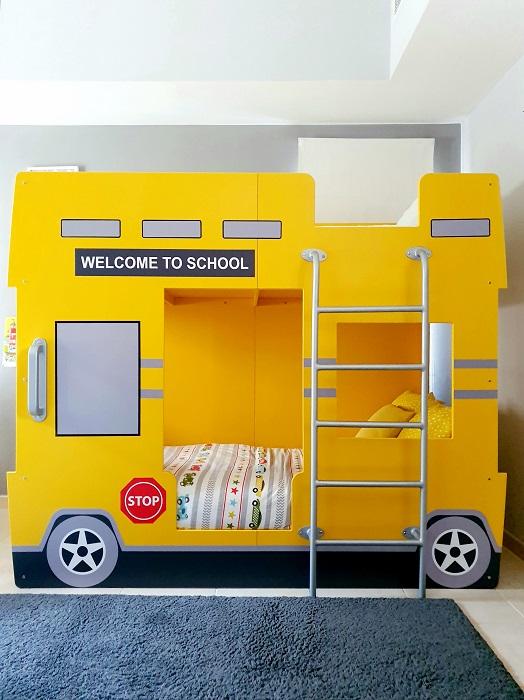 Double Decker School Bus Bunk Bed