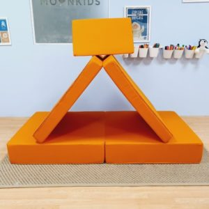 Play Sofa in Orange Cotton