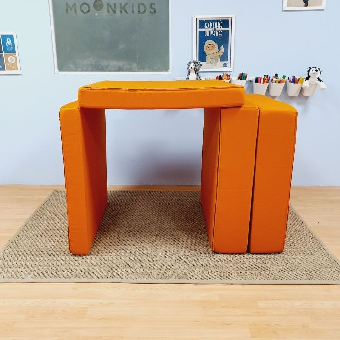 Play Sofa in Orange Cotton