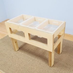 Sand and Water Triple Tub Play Table
