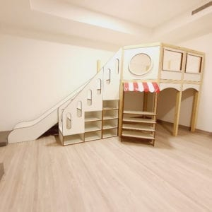 Mezzanine Play Structure with Slide