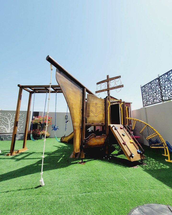 Outdoor Play Area for Tayba
