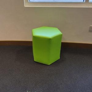 Hexagonal Ottoman Green