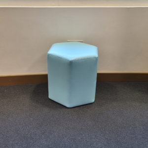 Hexagonal Ottoman Light Blue
