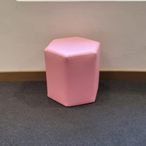 Hexagonal Ottoman Light Pink