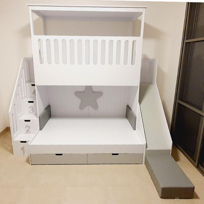 Playhouse Platform Bunk Bed