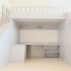 Cabin Bed with Slide, Steps and Desk