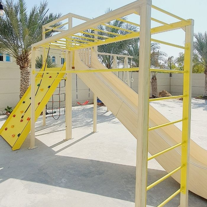Multi-Purpose Outdoor Climbing Frame Play Structure